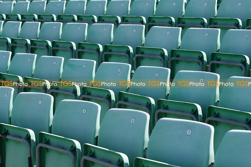 General view of empty seats around the ground ahead of Worcestershire CCC vs Essex CCC, LV Insurance County Championship Group 1 Cricket at New Road on 2nd May 2021