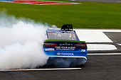 Monster Energy NASCAR Cup Series<br /> Bank of America 500<br /> Charlotte Motor Speedway, Concord, NC<br /> Sunday 8 October 2017<br /> Martin Truex Jr, Furniture Row Racing, Auto-Owners Insurance Toyota Camry celebrates his win with a burnout <br /> World Copyright: Russell LaBounty<br /> LAT Images
