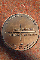 Four Corners, the point where Colorado, Arizona, New Mexico and Utah state lines all meet.
