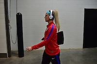 Atlanta, GA - Sunday Sept. 18, 2016: Julie Johnston prior to a international friendly match between United States (USA) and Netherlands (NED) at Georgia Dome.