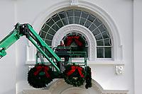 NOV 25 Christmas decorations at the White House - Washington