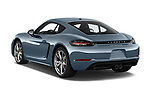 Car pictures of rear three quarter view of a 2018 Porsche 718 Cayman S 2 Door Coupe angular rear