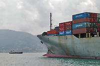 - container ship in La Spezia harbour....- nave portacontainer nel porto di la Spezia