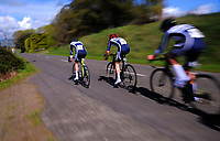 Palmerston North BHS senior A in action during the 2017 NZ Schools Road Cycling championships day one team time trials at Koputaroa Road near Levin, New Zealand on Saturday, 30 September 2017. Photo: Dave Lintott / lintottphoto.co.nz