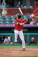 Erie SeaWolves Luke Burch (3) at bat during an Eastern League game against the Altoona Curve on June 5, 2019 at UPMC Park in Erie, Pennsylvania.  Altoona defeated Erie 6-2.  (Mike Janes/Four Seam Images)
