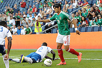 Alan Pulido (19) Mexico in action... Mexico defeated Honduras 2-1 after extra time to win the CONCACAF Olympic qualifying trophy at LIVESTRONG Sporting Park, Kansas City, Kansas.