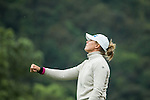 Marianne Skarpnord of Norway tees off during Round 1 of the World Ladies Championship 2016 on 10 March 2016 at Mission Hills Olazabal Golf Course in Dongguan, China. Photo by Victor Fraile / Power Sport Images
