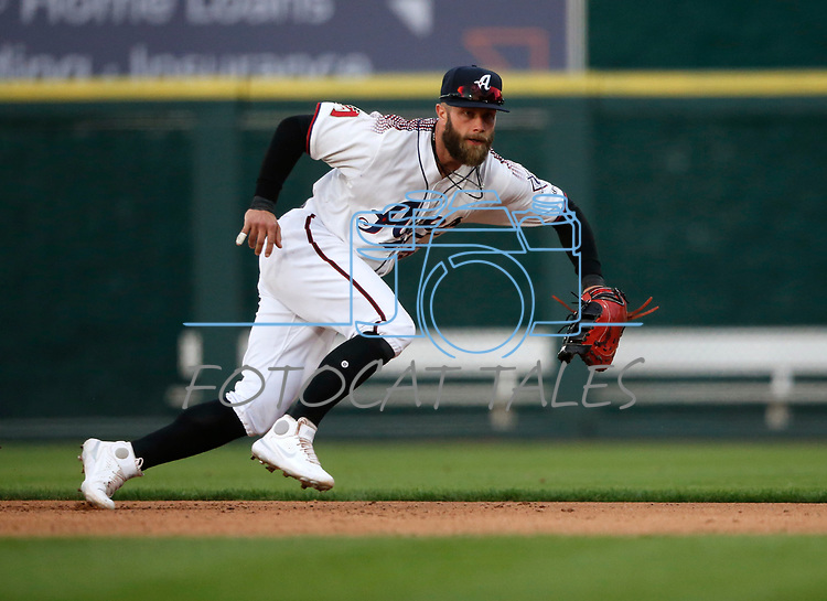 Reno Aces' Christian Walker makes a play against the Tacoma Rainiers, in Reno, Nev., on Friday, May 28, 2021. <br /> Photo by Cathleen Allison