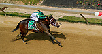 May 15, 2021: Chub Wagon, #5, ridden by jockey Irad Ortiz Jr., wins the Unhappy Skipat Stakes on Preakness Stakes Day at Pimlico Race Course in Baltimore, Maryland. John Voorhees/Eclipse Sportswire/CSM