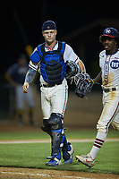 High Point-Thomasville HiToms catcher Rudy Maxwell (25) (Duke) during the game against the Wilson Tobs at Finch Field on July 17, 2020 in Thomasville, NC. The Tobs defeated the HiToms 2-1. (Brian Westerholt/Four Seam Images)