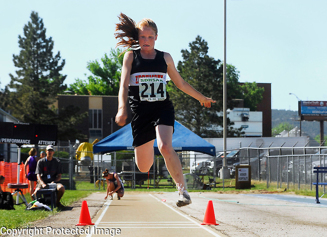 Inertia Photo/Dick Kettlewell:  Edgemont's Lacy Stevens -- Triple Jump