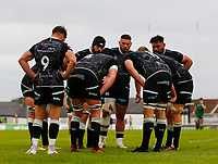 4th June 2021; Galway Sportsgrounds, Galway, Connacht, Ireland; Rainbow Cup Rugby, Connacht versus Ospreys; Ospreys players huddle to talk tactics during the second half