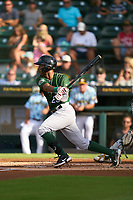 Daytona Tortugas Reyny Reyes (29) bats during a game against the Bradenton Marauders on June 12, 2021 at LECOM Park in Bradenton, Florida.  (Mike Janes/Four Seam Images)
