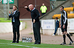 St Johnstone v Dundee United....01.09.12      SPL  .Peter Houston and Steve Lomas.Picture by Graeme Hart..Copyright Perthshire Picture Agency.Tel: 01738 623350  Mobile: 07990 594431