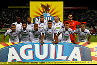 MANIZALES-COLOMBIA, 24-04-2019: Los jugadores de Once Caldas, posan para una foto, antes de partido adelantado de la fecha 19 entre Once Caldas y Deportivo Cali, por la Liga Águila I 2019, jugado en el estadio Palogrande de la ciudad de Manizales. / The players of Once Caldas, pose for a photo, prior a match ahead of date 19th date between Once Caldas and Deportivo Cali, for the Aguila Leguaje I 2019 played at the Palogrande Stadium in Manizales city. / Photo: VizzorImage / Santiago Osorio / Cont.