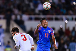 Lalpekhlua Jeje of India (R) fights for the ball with Waleed Mohamed Alhayam of Bahrain (L) during the AFC Asian Cup UAE 2019 Group A match between India (IND) and Bahrain (BHR) at Sharjah Stadium on 14 January 2019 in Sharjah, United Arab Emirates. Photo by Marcio Rodrigo Machado / Power Sport Images