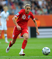 Kelly Smith of team England during the FIFA Women's World Cup at the FIFA Stadium in Dresden, Germany on July 1st, 2011.