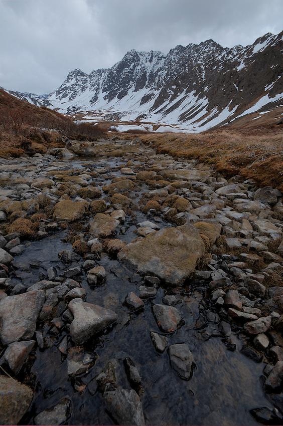 Upper reaches of Falling Water Creek, Ram Valley. Eagle River, Alaska.