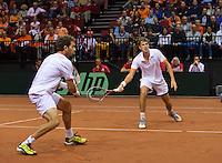 14-sept.-2013,Netherlands, Groningen,  Martini Plaza, Tennis, DavisCup Netherlands-Austria, Doubles,   Jean-Julien Rojer and Robin Haase(r) (NED)<br /> Photo: Henk Koster