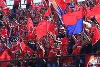 MEDELLÍN- COLOMBIA, 16-12-2018.Hinchas del Independiente Medellín antes del encuentro entre los equipos Independiente Medellín y el Atlético Junior   partido por la final  de la Liga Águila II 2018 jugado en el Estadio Atanasio Girardot de la ciudad de Medellín. / Fans of  Independiente Medellin before match agaisnt of  Atletico Junior  during the final  match of the Liga Águila II 2018 played at the Atanasio Girardot Stadium in the city of Medellín. . Photo: VizzorImage / Felipe Caicedo / Staff