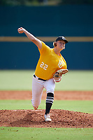 Michael Massey (22) of North Gwinnett High School in Suwanee, GA during the Perfect Game National Showcase at Hoover Metropolitan Stadium on June 18, 2020 in Hoover, Alabama. (Mike Janes/Four Seam Images)