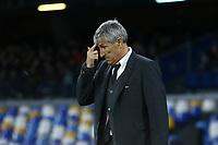 Quique Stein coach of Barcelona<br /> Napoli 25-02-2020 Stadio San Paolo <br /> Football Champions League 2019/2020 - Round 16, 1st leg<br /> SSC Napoli - FC Barcelona<br /> Photo Cesare Purini / Insidefoto