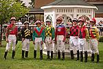 21 July 2012: Jockeys in the $600,000 Virginia Derby (gr II) at Colonial Downs in New Kent, Va. (Susan M. Carter/Eclipse Sportswire)