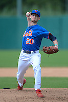 Pitcher Calder Mikell (20) of Petal High School in Petal, Mississippi playing for the New York Mets scout team during the East Coast Pro Showcase on August 1, 2013 at NBT Bank Stadium in Syracuse, New York.  (Mike Janes/Four Seam Images)