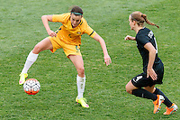 June 4, 2016: CHLOE LOGARZO (6) of Australia controls the ball during an international friendly match between the Australian Matildas and the New Zealand Football Ferns as part of the teams' preparation for the Rio Olympic Games at Morshead Park in Ballarat. Photo Sydney Low