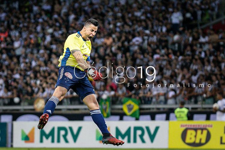 Belo Horizonte (MG), 07/03/2020- Atletico-Cruzeiro - Gol de Thiago - partida entre Atletico e Cruzeiro, valida pela 8a rodada do Campeonato Mineiro no Estadio Mineirao em Belo Horizonte neste sabado (07) (Foto: Giazi Cavalcante/Codigo 19/Codigo 19)