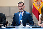 King Felipe VI of Spain attends the meeting of the members of the patronage of the Princesa de Asturias foundation at El Pardo Palace in Madrid, June 16, 2017. Spain.<br /> (ALTERPHOTOS/BorjaB.Hojas)