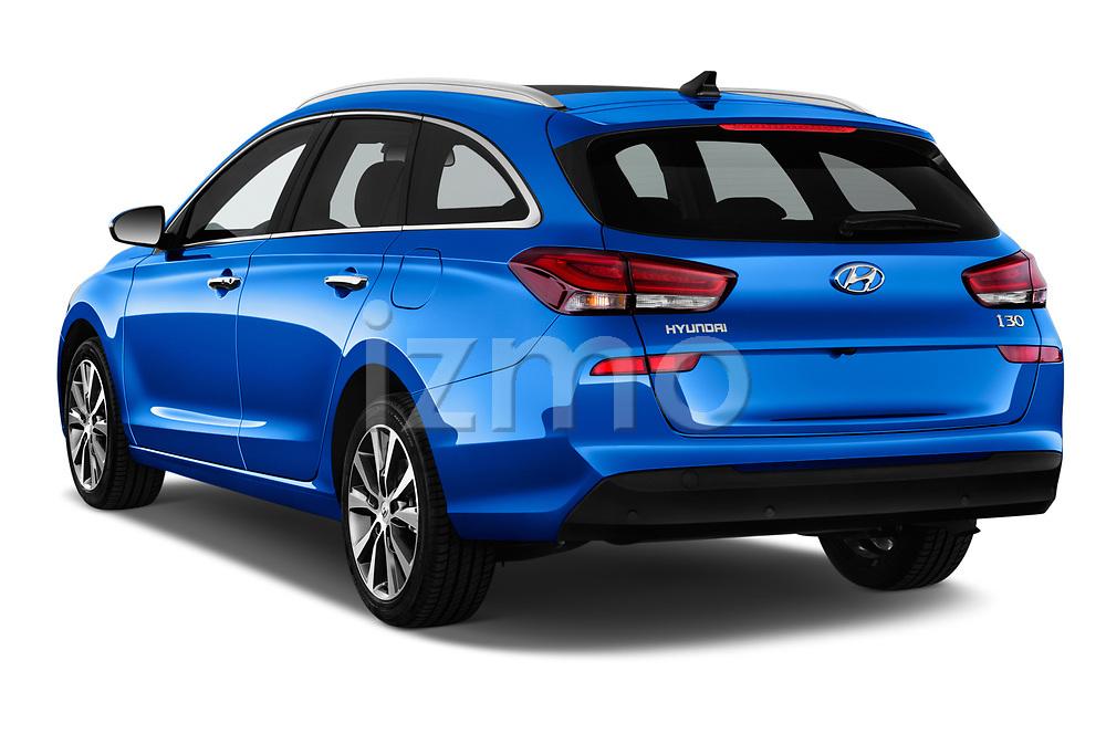 Car pictures of rear three quarter view of a 2018 Hyundai i30 Sky 5 Door Wagon angular rear