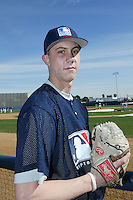February 10 2008: Shawn Smith participates in a MLB pre draft workout for high school players at the Urban Youth Academy in Compton,CA.  Photo by Larry Goren/Four Seam Images