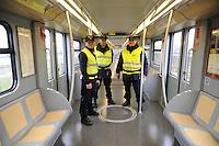 - Milan, private guards in security service on Metro Line 2....- Milano, guardie private in servizio di sicurezza sulla linea 2 della Metropolitana