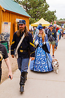Usa,Wyoming, Cheyenne,people dressed as old times at Frontier days 2017