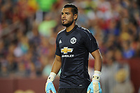 Landover, MD - July 26, 2017: FC Barcelona defeated Manchester United 1-0 in the International Champions Cup game at FedexField Stadium.