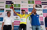 MANIZALES - COLOMBIA, 08-08-2018: Juan Pablo Suarez (EPM - Scott) lidera la clasificación general de la vuelta a Colombia 2018. tras la  la etapa 3 que se realizó entre las ciudades de Armenia y Manizales con una distancia de 187 Km. La Vuelta a Colombia 2018 se corre en 13 etapas entre el 5 y 19 de agosto de 2018 con inicio en Pereira y final en la ciudad de Medellín. / Juan Pablo Suarez (EPM - Scott) leads Vuelta a Colombia 2018 after stage 3 that took place between the cities of Armenia and Manizales with a distance of 187 km. The Vuelta a Colombia 2018 runs in 13 stages between 5 and August 19, 2018 with beginning in Pereira and final in the city of Medellín Photo: VizzorImage / Santiago Osorio / Cont