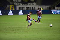 CARSON, CA - SEPTEMBER 19: Sam Vines #13 of the Colorado Rapids passes off the ball during a game between Colorado Rapids and Los Angeles Galaxy at Dignity Heath Sports Park on September 19, 2020 in Carson, California.