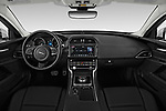 Stock photo of straight dashboard view of a 2019 Jaguar XE  Base 4 Door Sedan