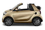 Car Driver side profile view of a 2020 Smart EQ-fortwo Comfort-Plus 2 Door Convertible Side View