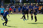 Harestanes AFC v Girvan FC, 15/08/2015. Scottish Cup preliminary round, Duncansfield Park. Second-half action as Harestanes AFC (in light blue) take on Girvan FC in a Scottish Cup preliminary round tie, staged at Duncansfield Park, home of Kilsyth Rangers. The home team were the first winners of the Scottish Amateur Cup to be admitted directly into the Scottish Cup in the modern era, whilst the visitors participated as a result of being members of both the Scottish Football Association and the Scottish Junior Football Association. Girvan won the match by 3-0, watched by a crowd of 300, which was moved from Harestanes ground as it did not comply with Scottish Cup standards. Photo by Colin McPherson.