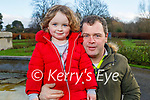 Little Aoibheann O'Donnell with her dad Jamie enjoying a walk in the Tralee town park on Saturday.