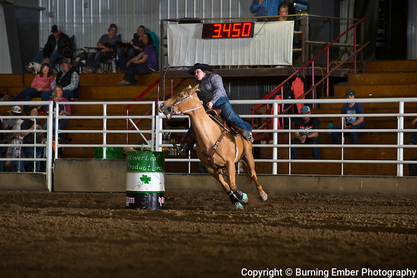 Denise Sabo at The Blitz Open 5D first round barrell races. Sept 22, 2018.  Photo by Josh Homer/Burning Ember Photography.  Photo credit must be given on all uses.