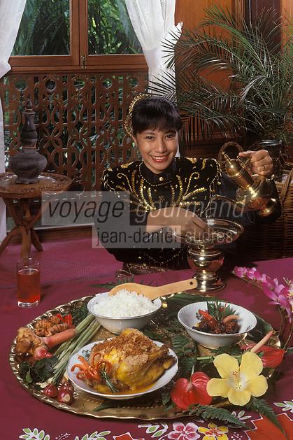 "Asie/Malaisie/Kuala Lumpur: Ayam Percik Poulet roti sauce malaise recette de Shaari Darus chef du  restaurant ""Seri Melayu"""