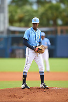 FCL Rays pitcher Antonio Jimenez (83) during a game against the FCL Pirates Black on August 3, 2021 at Charlotte Sports Park in Port Charlotte, Florida.  (Mike Janes/Four Seam Images)