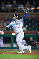 Mesa Solar Sox Ryan McBroom (9), of the Toronto Blue Jays organization, during a game against the Scottsdale Scorpions on October 17, 2016 at Scottsdale Stadium in Scottsdale, Arizona.  Mesa defeated Scottsdale 12-2.  (Mike Janes/Four Seam Images)