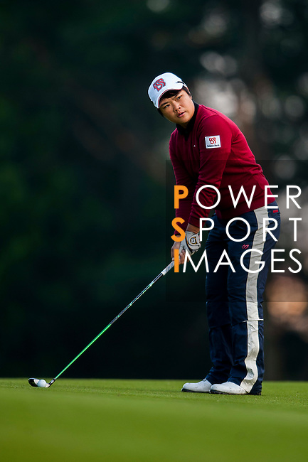 Pei-Yun Chien of Chinese Taipei in action during the Hyundai China Ladies Open 2014 on December 13 2014, in Shenzhen, China. Photo by Xaume Olleros / Power Sport Images