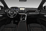 Stock photo of straight dashboard view of 2017 Peugeot 3008 GT-Line 5 Door Suv Dashboard