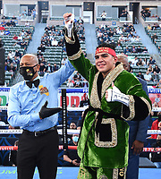 CARSON, CA - MAY 1: Jesus Ramos Jr. after defeating Javier Molina on the Fox Sports PBC Pay-Per-View fight on May 1, 2021 at Dignity Health Sports Park in Carson, CA. (Photo by Frank Micelotta/Fox Sports/PictureGroup)