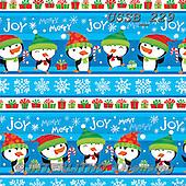 Sarah, GIFT WRAPS, GESCHENKPAPIER, PAPEL DE REGALO, Christmas Santa, Snowman, Weihnachtsmänner, Schneemänner, Papá Noel, muñecos de nieve, paintings+++++PenguinStripe-13-A,USSB229,#GP#,#X#